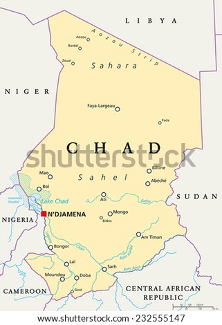 Chad Map Stock Images RoyaltyFree Images Vectors Shutterstock - Chad map