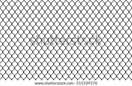 chain link fence stock vector 555339376 - shutterstock