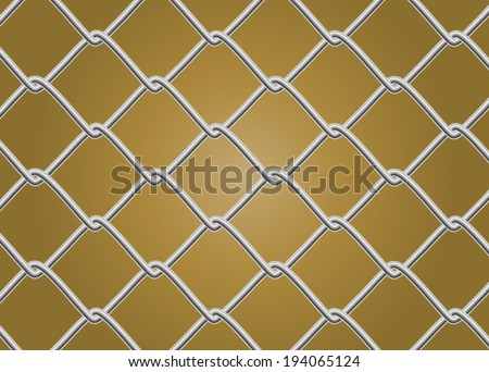 Chain Link Fence Vector - stock vector