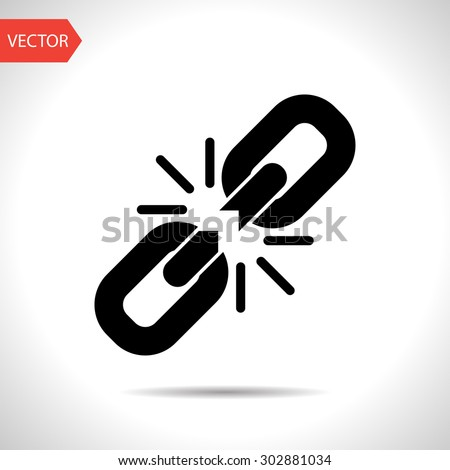 Chain link icon - stock vector