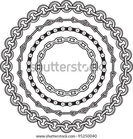 Chain Rings - stock vector