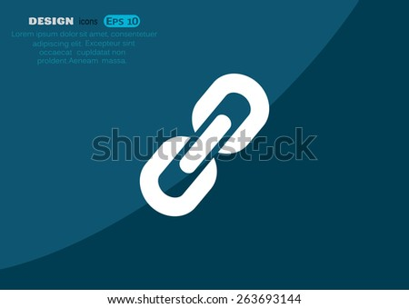 chain sign communication web icon. vector design - stock vector
