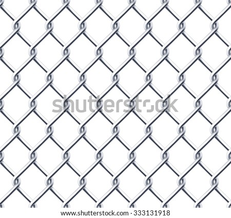 Chain wall on white background - stock vector