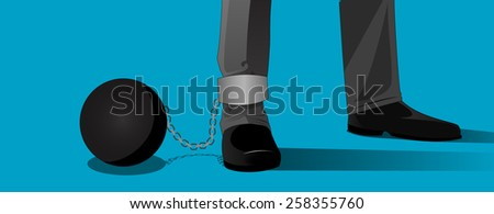 Chained - stock vector