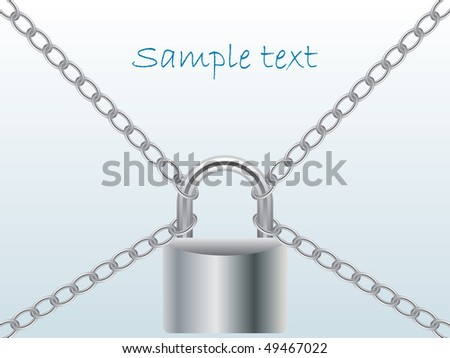 Chained and locked - stock vector
