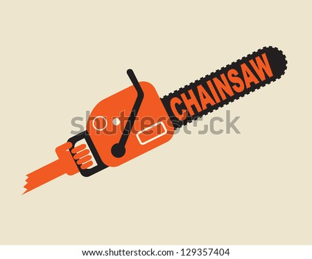 chainsaw in the hand - symbol