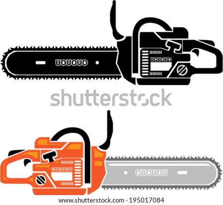 Chainsaw vector - stock vector