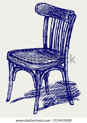 Chair classic. Doodle style