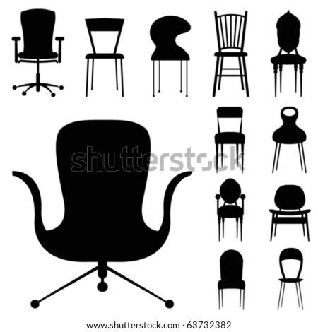 chair design set - stock vector