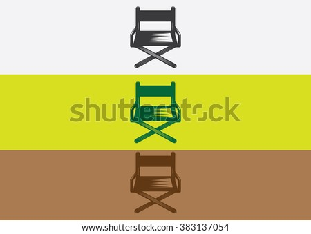 Chair flat logo vector