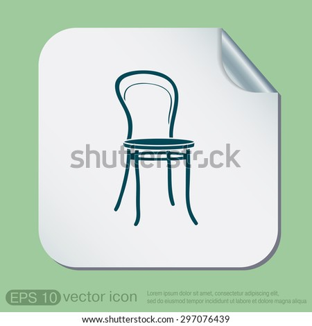 Chair Icon Symbol Furniture Icon Home Stock Vector 297076439