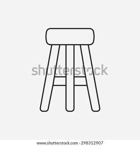 chair line icon