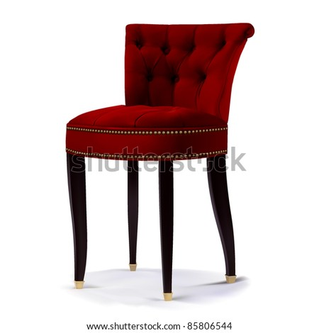 Chair luxury red color - stock vector