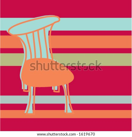 Chair on Stripes - stock vector