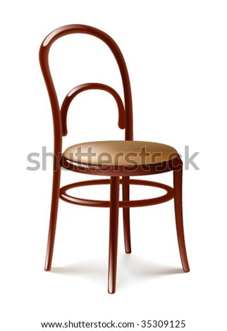 Chair on white - stock vector