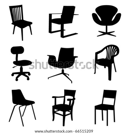 chair set - stock vector