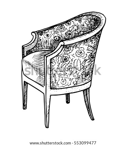 Chair Sketch drawing of a chair stock images, royalty-free images & vectors