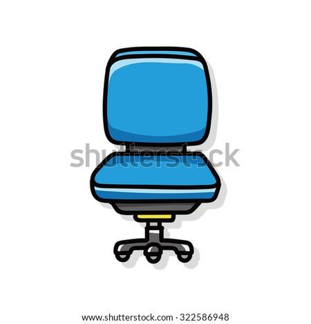 chair sofa doodle - stock vector