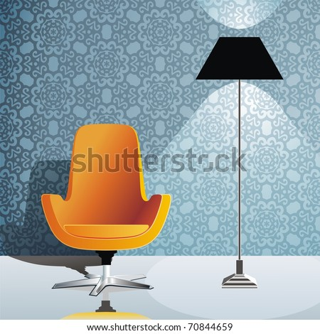 chair against wall stock photos royalty free images vectors shutterstock. Black Bedroom Furniture Sets. Home Design Ideas