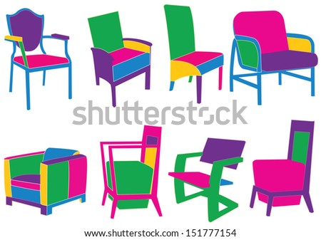 Chairs - stock vector