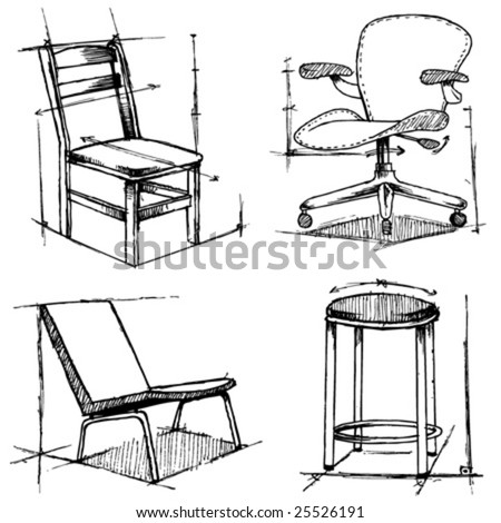 chair drawing. chairs drawings chair drawing