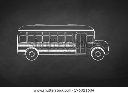 Chalkboard drawing. Vector illustration. - stock vector
