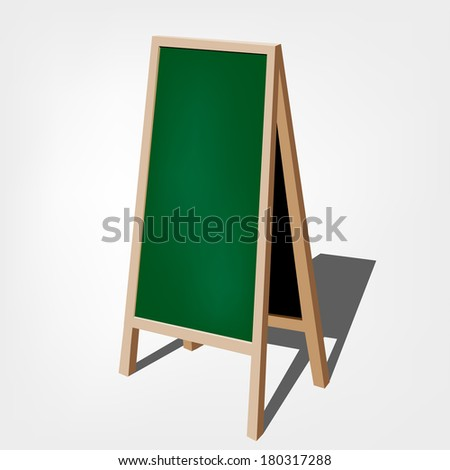 chalkboard for represent promotion collection / Blank Green Storefront chalkboard labels / - - stock vector
