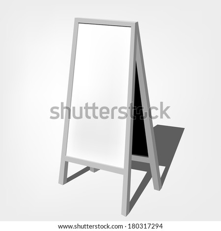 chalkboard for represent promotion collection / Blank White Storefront chalkboard labels / - - stock vector