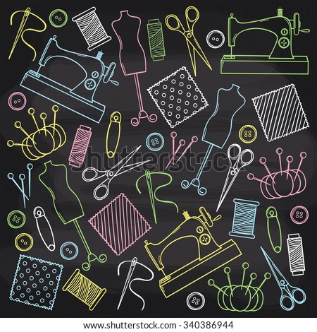 Chalkboard Sewing Set