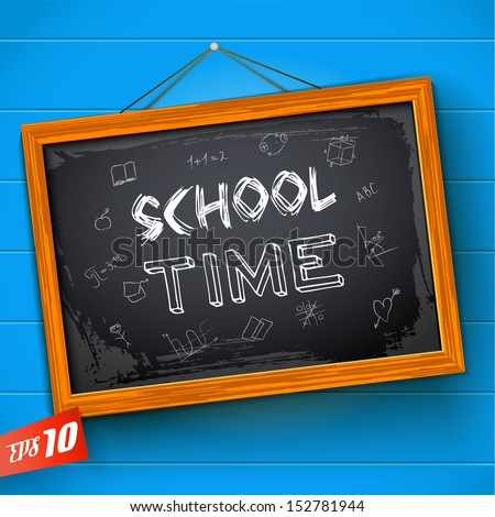 Chalkboard. Vector Illustration, eps10, contains transparencies. - stock vector