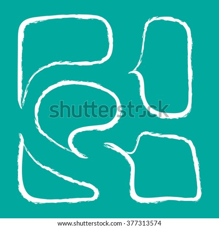 Chalked speech bubbles drawn Vector EPS10, Great for any use. - stock vector