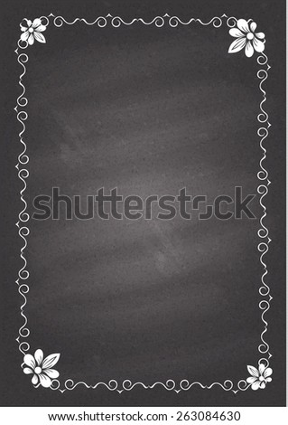 Chalked vintage antique frame. Vector eps 10. - stock vector