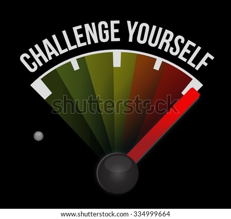challenge yourself sign concept illustration design graphic