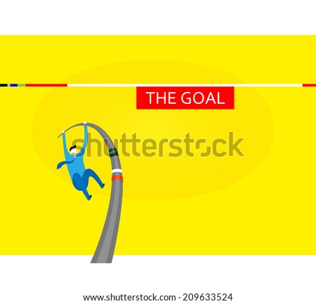 Challenges high goals - stock vector