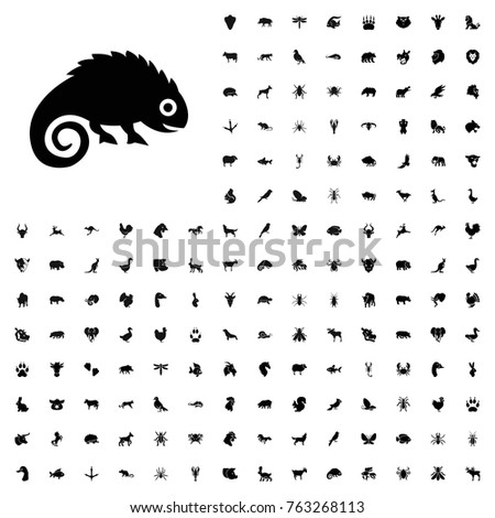 Chameleon icon illustration isolated vector sign symbol. animals icon set for web and mobile.