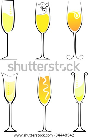 champagne - stock vector