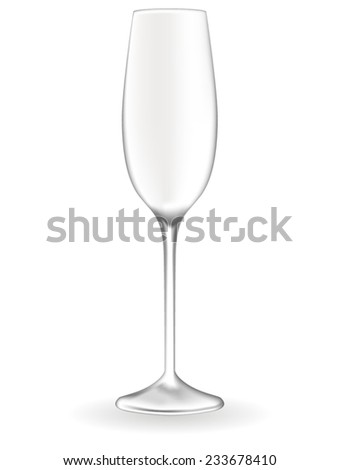 Champagne glass - vector drawing - stock vector