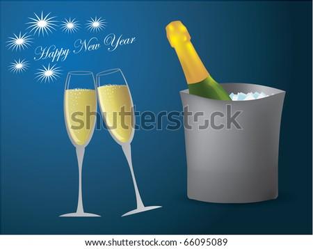 Champagne glasses - stock vector