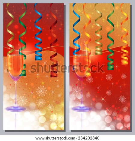 Champaign Greeting Card - stock vector