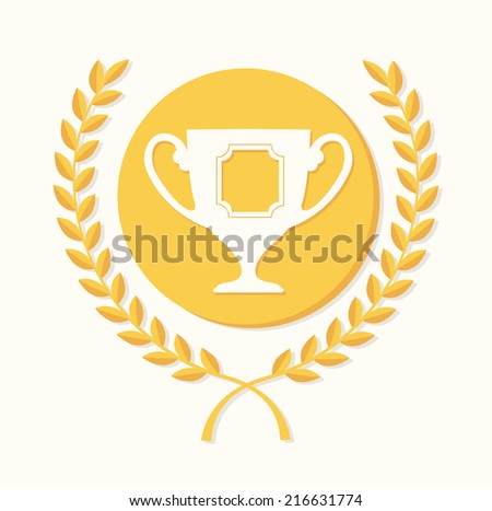 Champion design over white background, vector illustration