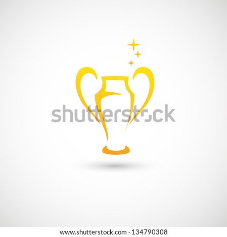 Champions Cup icon vector - stock vector