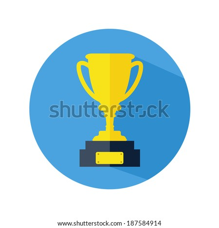 Champions Cup icon vector. Trophy icon - stock vector