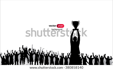 Champions Cup. Poster - stock vector