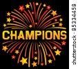 champions firework design - stock vector