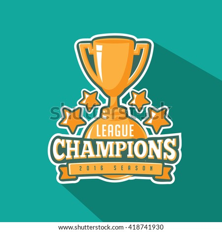 Champions League Trophy Vector Champion Stock ...