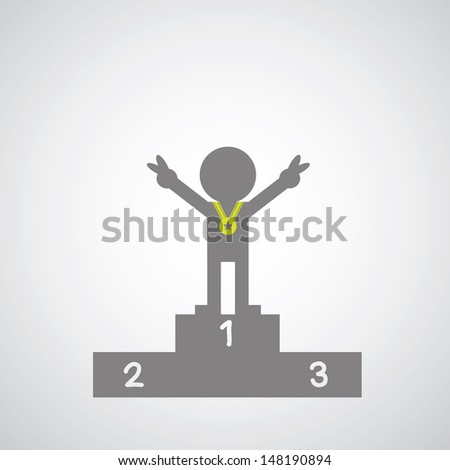 championship symbol on gray background - stock vector