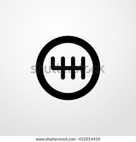 change gear icon. change gear sign - stock vector