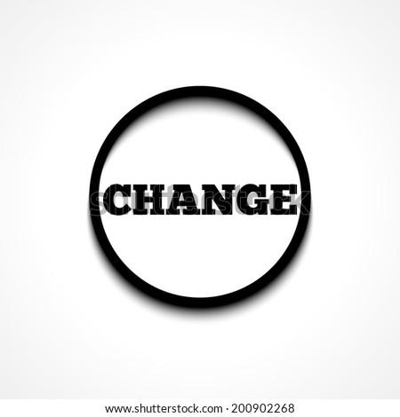 CHANGE icon - stock vector