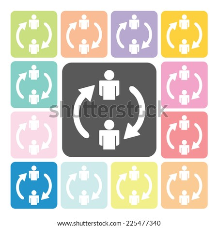 Change people Icon color set vector illustration. - stock vector