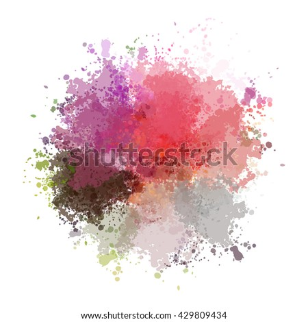 Chaotic colorful dabs on a white background. A vector element for your design. - stock vector